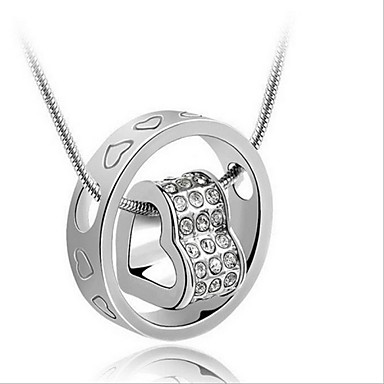 cheap Necklaces-Women's Pendant Necklace Floating Heart Hollow Heart Ladies Fashion Bridal Sterling Silver Silver Necklace Jewelry For Wedding Gift Daily Casual