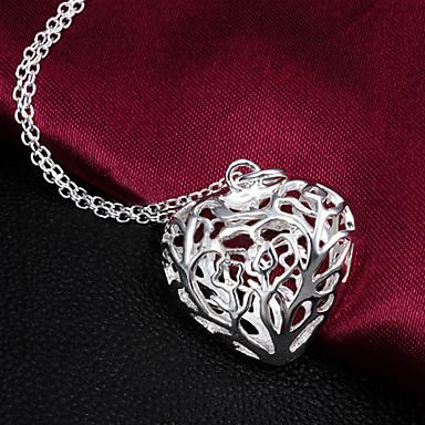 Γυναικεία Καρδιά Καρδιά Κολιέ Δήλωση Ασήμι Στερλίνας Κολιέ Δήλωση Γάμου Πάρτι Ευχαριστώ Καθημερινά Causal Βαλεντίνος Κοστούμια Κοσμήματα