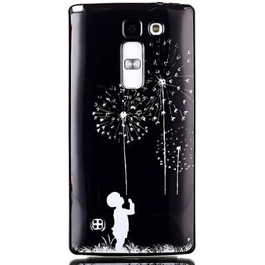 Para Capinha LG Case Tampa Estampada Capa Traseira Capinha dandelion Macia PUT para LG LG Leon /LG C40 H340N LG Spirit/LG C70 H422 LG