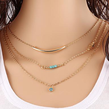 Mulheres Turquesa Colares em Corrente colares em camadas - Turquesa Original Básico Fashion Jóias Colar Para Festa Parabéns Presente