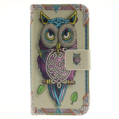 Capinha Para Samsung Galaxy Samsung Galaxy Capinhas Porta-Cartão Carteira Com Suporte Flip Estampada Corpo Inteiro Corujas PU Leather para