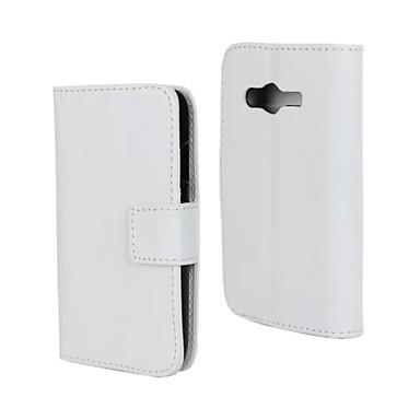 hoesje Voor Samsung Galaxy Samsung Galaxy hoesje Kaarthouder / Portemonnee / met standaard Volledig hoesje Effen PU-nahka voor Ace 4