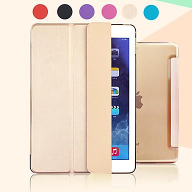hoesje Voor met standaard Automatisch aan / uit Transparant Origami Volledig hoesje Effen Kleur PU-nahka voor iPad Pro 12.9''