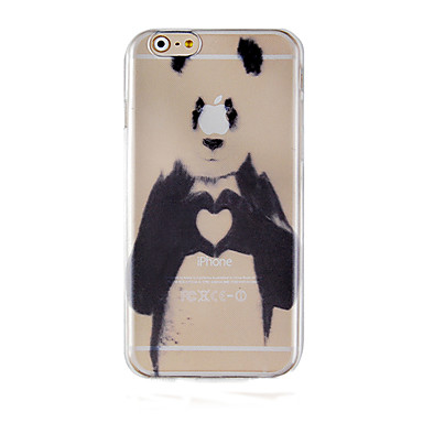 Capinha Para Apple iPhone 6 iPhone 6 Plus Transparente Estampada Capa traseira Panda Animal Rígida PC para iPhone 6s Plus iPhone 6s