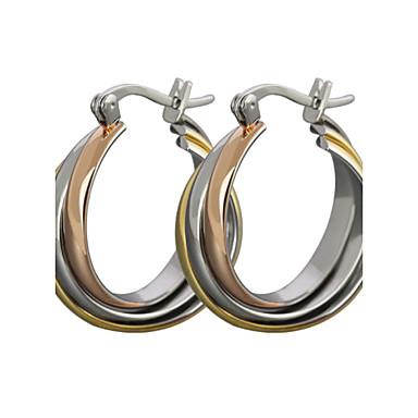 Женский Серьги-гвоздики Серьги-кольца Классика бижутерия Титановая сталь Бижутерия Назначение