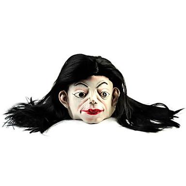 voordelige Grappige Gadgets-lang haar wit gezicht ghost rubberen masker voor cosplay / Halloween kostuum partij