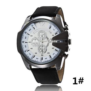 Masculino Relógio Esportivo Relógio de Pulso Quartzo Couro Banda Preta Azul Marrom Verde # 5 # 6 # 7 # 8 # 9