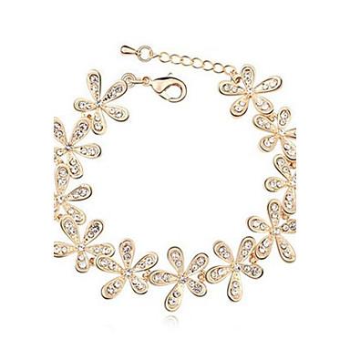 Dames Kristal Strass Bedelarmbanden - Sneeuwvlok Zilver Gouden Armbanden Voor Bruiloft Feest Dagelijks Causaal Sport
