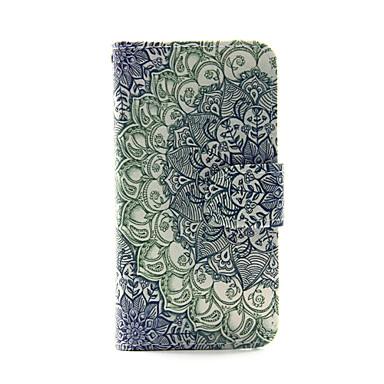 flor gradiente pu carteira de couro caso de corpo inteiro para o iPod Touch 5/6