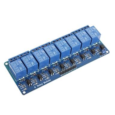Placa do módulo relé 5v 8 canais para pic arduino AVR DSP braço