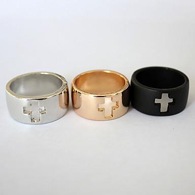 Dames Roestvast staal Bandring - Modieus Zwart / Zilver / Gouden Ring Voor Feest / Dagelijks / Causaal