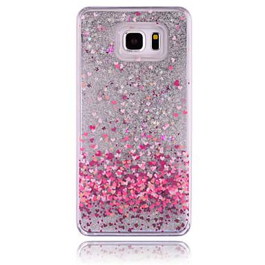 Para Samsung Galaxy Note Liquido Flutuante Capinha Capa Traseira Capinha Brilho com Glitter PC Samsung Note 5
