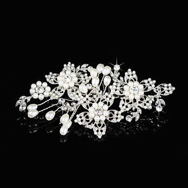 Bruiloft / Feest - Haarkammen (Kristal , Zilver)