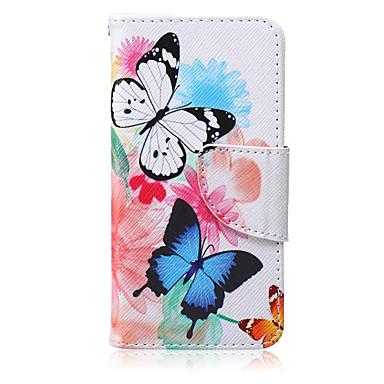 teste padrão de borboletas pu caso suporte da placa de material para o iPod touch 06/05