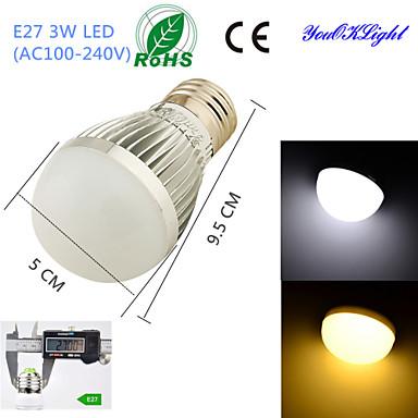 E26/E27 Lâmpada Redonda LED B 6 leds SMD 5730 Decorativa Branco Quente Branco Frio 260lm 3000/6000K AC 100-240V
