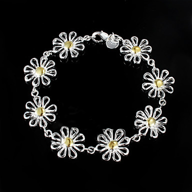 Dames Armbanden met ketting en sluiting Sterling zilver Zilver Sieraden Voor Bruiloft Feest Dagelijks Causaal 1 stuks