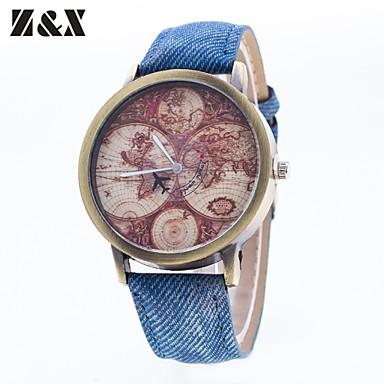 Heren Modieus horloge Kwarts Nylon Band Zwart Wit Blauw Rood Groen Geel