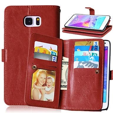 luxe pu lederen flip cover 9 kaarthouders portemonnee geval voor Samsung Galaxy Note 3 / noot 4 / noot 5 (verschillende kleuren)