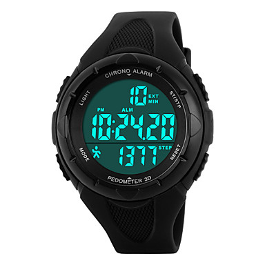 Dames Modieus horloge Sporthorloge Digitaal Alarm Kalender Chronograaf Waterbestendig Sporthorloge LED PU Band Zwart Blauw Groen Roze