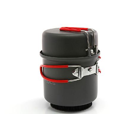 ALOCS Kampeerkeukengerei keukenset Kampeerpan Sets Hard Alumina voor Kamperen&Wandelen