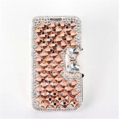 Voor iPhone 5 hoesje Kaarthouder / Strass / met standaard / Flip hoesje Volledige behuizing hoesje Glitterglans Hard PU-leeriPhone