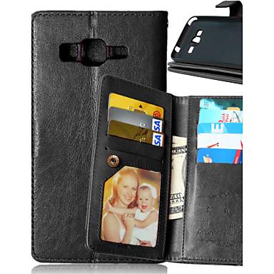 luxe pu lederen flip cover 9 kaarthouders portemonnee Case voor Samsung Galaxy J1 / J5 / kern prime / grand prime