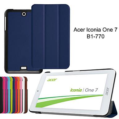 tri-fold ultradunne lederen draagtas voor Acer Iconia een 7 b1-770 7〃 tablet