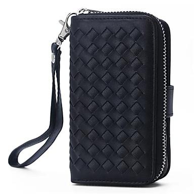 Capinha Para iPhone 5 Capinha iPhone 5 Porta-Cartão Carteira Com Suporte Capa Proteção Completa Côr Sólida Rígida PU Leather para iPhone