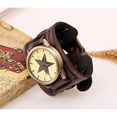 Masculino Relógio de Pulso Quartzo Couro Banda Preta Marrom Preto Marron