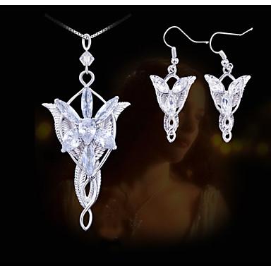 Mulheres Conjunto de jóias Brincos / Colares - Prata Conjunto de Jóias Para Festa / Diário / Casual