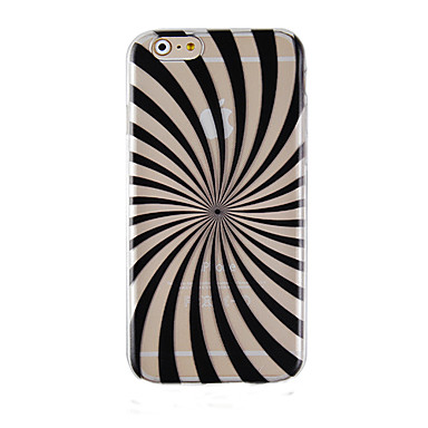 zwart gekleurde balk patroon transparante telefoon zaak terug beschermhoes voor iphone6 plus / 6s plus