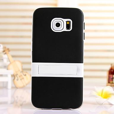 Para Samsung Galaxy Capinhas Com Suporte Capinha Capa Traseira Capinha Cor Única TPU SamsungS6 edge plus / S6 edge / S6 / S5 Mini / S5 /