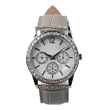 Mulheres Relógio de Moda Quartzo Impermeável Couro Banda Cinza Cinzento