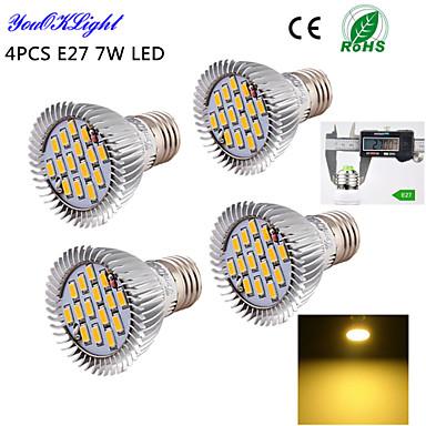 E26/E27 LED-spotlampen A50 15 leds SMD 5630 Decoratief Warm wit 600lm 3000K AC 220-240 AC 110-130V