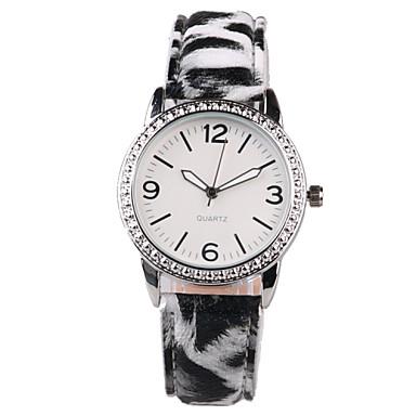 Dames Modieus horloge Kwarts Waterbestendig PU Band Amulet Glitter Zwart