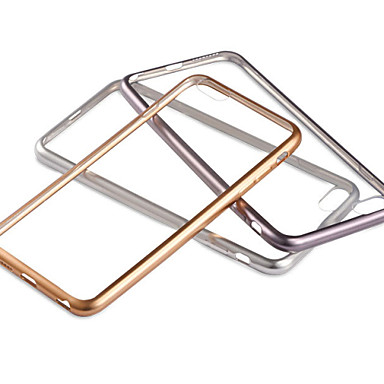 Capinha Para Apple iPhone 6 iPhone 6 Plus Galvanizado Transparente Capa traseira Côr Sólida Macia TPU para iPhone 6s Plus iPhone 6s