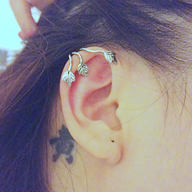 Dames Bladvorm Clip oorbellen - Zilver Bronzen Bladvorm oorbellen Voor Bruiloft Feest Dagelijks Causaal