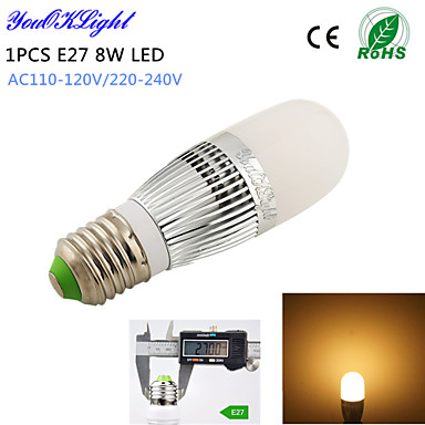 E14 LED-maïslampen T 28 leds SMD 2835 Decoratief Warm wit 700lm 3000K AC 220-240 AC 110-130V