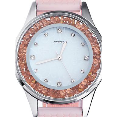 זול שעוני גברים-SINOBI בגדי ריקוד נשים שעוני יוקרה שעונים יום יומיים שעוני אופנה קווארץ סיליקוןריצה ורוד 30 m עמיד במים אנלוגי נשים - ורוד