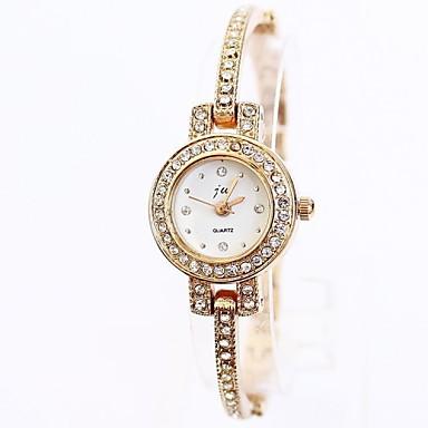 Mulheres Relógio de Moda Bracele Relógio Quartzo Lega Banda Elegantes Dourada