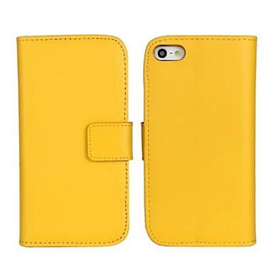 Недорогие Кейсы для iPhone-Кейс для Назначение Apple iPhone X / iPhone 8 Pluss / iPhone 8 Кошелек / Бумажник для карт / со стендом Чехол Однотонный Твердый Настоящая кожа