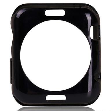 modieuze TPU zachte achterkant van de behuizing deksel en gehard glas screen protector voor iWatch 38mm / 42mm