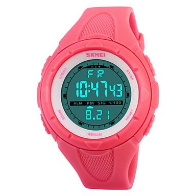 Dames Sporthorloge Modieus horloge Digitaal Alarm Kalender Chronograaf Waterbestendig Sporthorloge LED PU Band Zwart Blauw Groen Roze