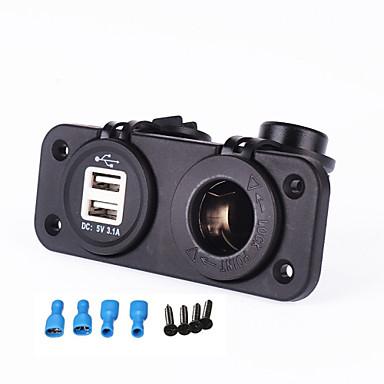 iztoss nieuwe 12-24V sigarettenaansteker 5v 3.1a Dual USB-adapter voor moto auto rv boot