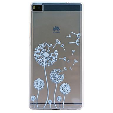 Voor Huawei hoesje / P8 / P8 Lite Transparant / Reliëfopdruk hoesje Achterkantje hoesje Paardenbloem Zacht TPU HuaweiHuawei P8 / Huawei
