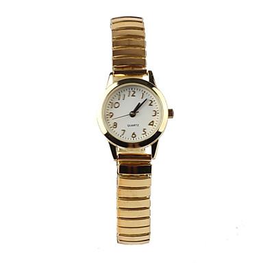 Mulheres Relógio de Moda Quartzo Impermeável Aço Inoxidável Banda Dourada marca