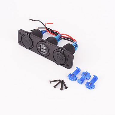 iztoss 12v marine sigarettenaansteker paneel met USB-poort en het voltage stroom aansluiting voor auto suv, rv, caravan