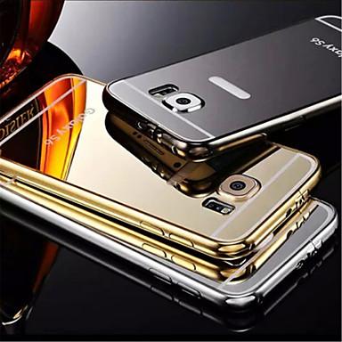plating spiegel terug met metalen frame telefoon geval voor Samsung Galaxy s6 rand + / s6 / s6edge (diverse kleuren)