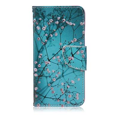 Capinha Para LG LG Nexus 5X Capinha LG Porta-Cartão Carteira Com Suporte Flip Capa Proteção Completa Flor Rígida PU Leather para