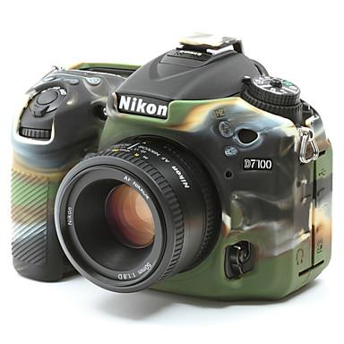 dengpin® zachte siliconen armor huid rubber camera dekking geval tas voor Nikon D7100 D7200